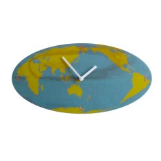 Objectify world map wall clock