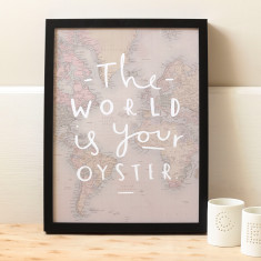 World is your oyster map print