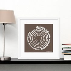 What makes your world go round personalised print (own colour)