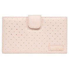 Matinee perforated vegan leather wallet