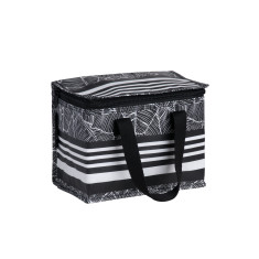 Insulated lunch box bag in Stripe Print