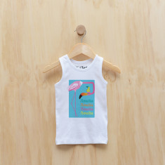 Personalised flamingo singlet