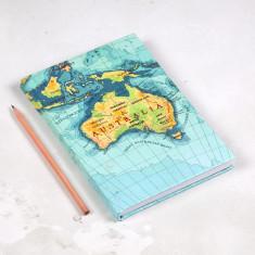 Australia map notebook