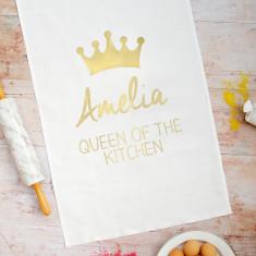 Personalised Queen Tea Towel