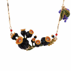 Poppies' Buds And Heads Necklace