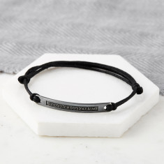 Personalised Oxidized Sterling Silver Coordinate Hidden Message Bracelet