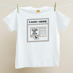 Bank of Dad Walking Cashpoint Organic T shirt