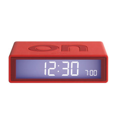 Flip LCD alarm clock in red