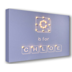 Alphabet letter tablet typeface illuminated canvas