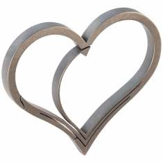 Titanium Heart shaped keyring carabiner