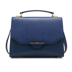 Vix trapeze leather shoulder bag (regal blue)