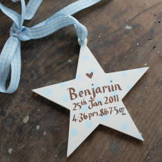 Personalised Baby Boy's Birth Date Star