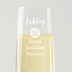 Personalised Special Age Birthday Champagne Flute For Her
