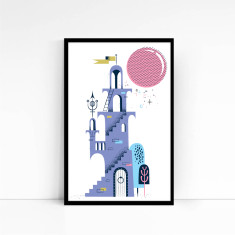 Bubble Tower Print
