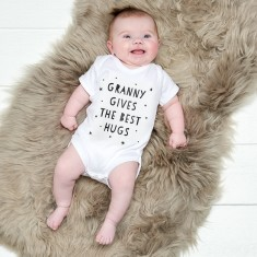 Granny gives the best hugs baby suit