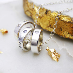 Personalised Silver Hoop Necklace