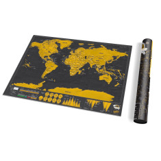 Deluxe scratch off world map (travel edition)