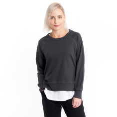 Side Zip Sweat in Charcoal