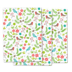 Christmas birds wrapping paper (pack of 3)