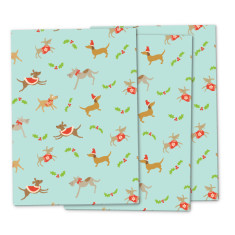 Dog's Christmas wrapping paper (pack of 3)