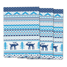 Nordic knit Christmas wrapping paper (pack of 3)