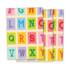 Vintage alphabet wrapping paper (pack of 3)