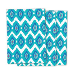 Blue ikat wrapping paper (3 pack)