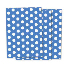 Blue polka wrapping paper (3 pack)