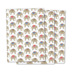Circus elephant wrapping paper (pack of 3)