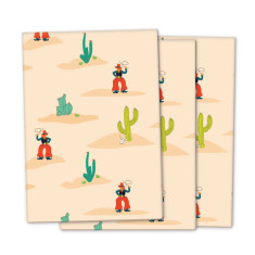 Cowboy wrapping paper (3 pack)