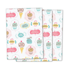 Cupcakes birthday wrapping paper (3 pack)