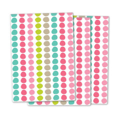 Gelato polka dot wrapping paper (3 pack)
