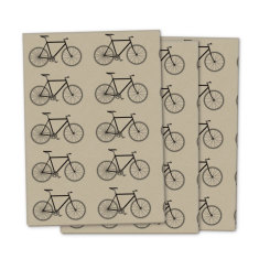 Kraft bicycle wrapping paper (pack of 3)