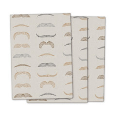 Kraft moustache wrapping paper (3 pack)
