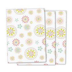 Modern floral wrapping paper (3 pack)