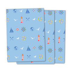 Nautical wrapping paper (pack of 3)