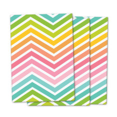 Rainbow chevron wrapping paper (pack of 3)
