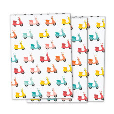 Vintage scooter wrapping paper (pack of 3)