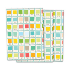 Vintage paints wrapping paper (pack of 3)