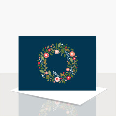 Wreath greeting card (box of 8)