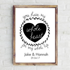 Personalised whole heart print