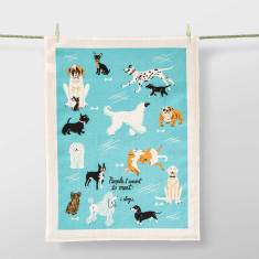 People I Want To Meet: Dogs Tea Towel by Blue Q