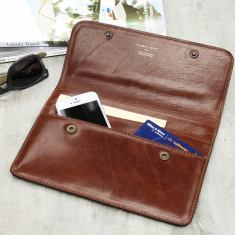 Personalised Torrino Italian Leather Travel Wallet