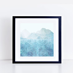 blue lake fine art giclee print