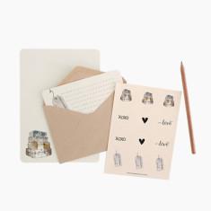 An April Idea suitcases writing set