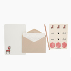 An April Idea baroque chair writing set