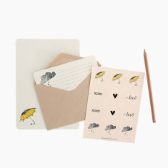 An April Idea umbrella writing set