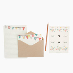 An April Idea bunting writing set