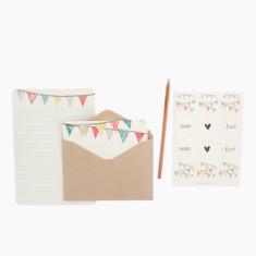 An April Idea bunting writing set
