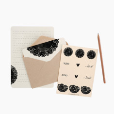 An April Idea doily writing set